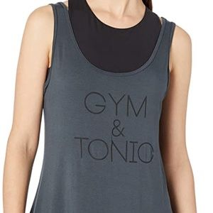 NWT Nux Gym and Tonic Tank Top in Dark Grey